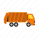garbage, rubbish, transportation, trash, truck, vehicle, waste icon