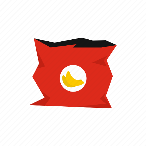 bag, blank, chips, container, crumpled, empty, recycle icon