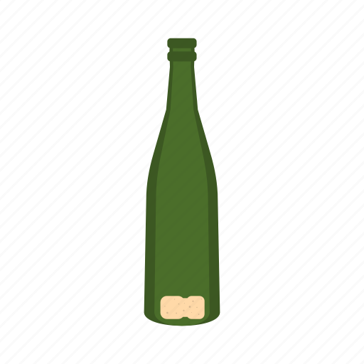 alcohol, beverage, bottle, champagne, drink, empty, glass icon