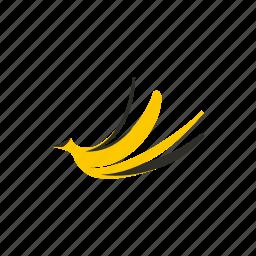 banana, food, fruit, healthy, organic, peel, skin icon
