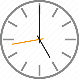 alarm, five, oclock, time, timer, wait, watch icon