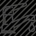 faucet, liquid, moisture, tap, water icon