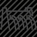barrage, dam, embankment, hydro energy, liquid, water icon
