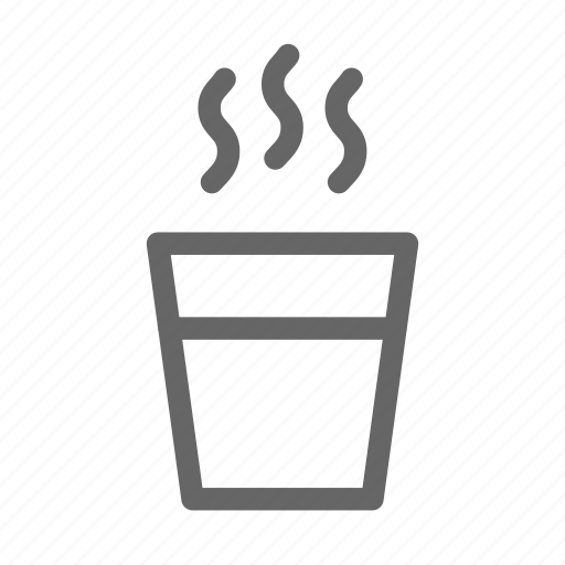hot, smoke, water icon
