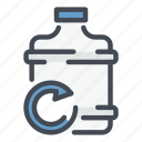 water, cooler, dispenser, bottle, office, replace, change icon