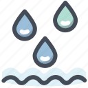 drop, liquid, rain, river, water, wave icon
