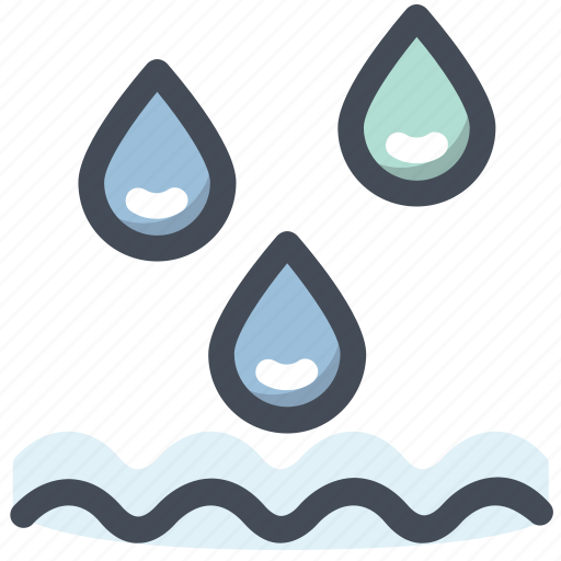 drop, liquid, rain, river, water, wave icon