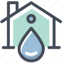 home, ui, water icon