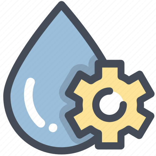 energy, power, settings, water icon