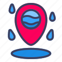water, location, map, pin, navigation, gps