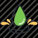 drop, moisture, rain, water icon