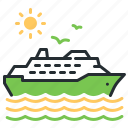 cruiser, ship, vacation, voyage icon