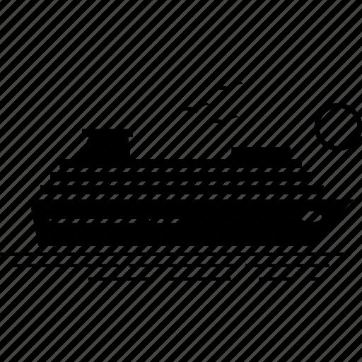 cruise, cruiser, ship icon