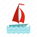 boat, holiday, sailboat, sea, sport, water, yacht icon