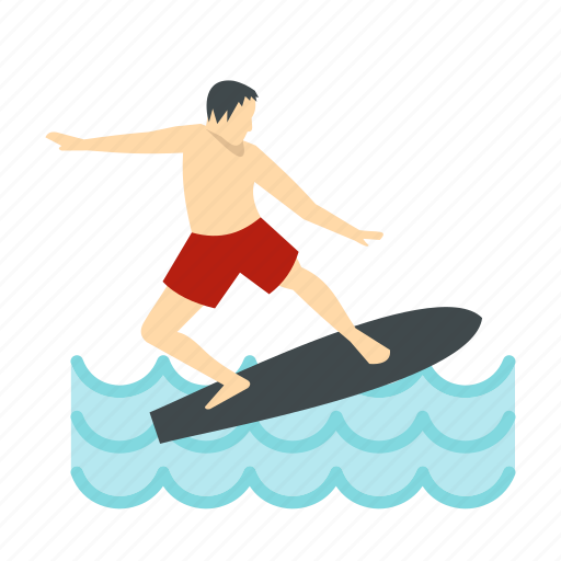 beach, board, sea, sport, surf, surfboard, surfer icon