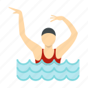 female, girl, people, pool, sport, swim, water icon
