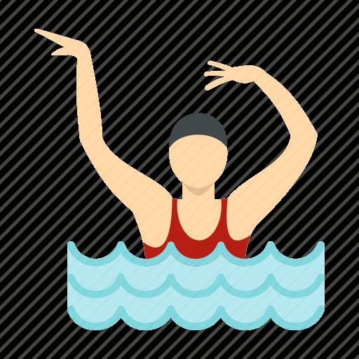 female, girl, people, pool, sport, swim, water icon