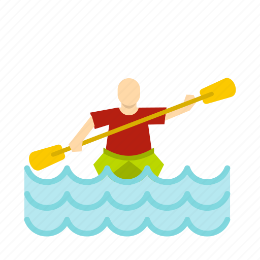 canoe, kayak, people, rowing, sea, sport, summer icon