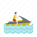 boat, jet, sea, ski, sport, transport, water icon
