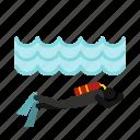 diver, equipment, ocean, sea, sport, underwater, water