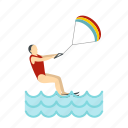 kite, sea, sport, surf, surfer, surfing, wave icon