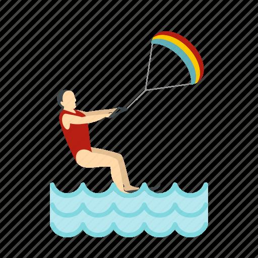 kite, sea, sport, surf, surfer, surfing, wave icon