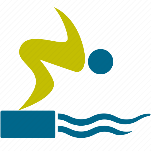 account, man, person, pool, sport, swimmer, swimming icon