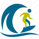 active, extreme, jump, kite, man, people, person, play, rowers, rowing, sport, sports, surfing, swimmer, swimming, wave icon
