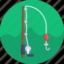 fish hook, fisherman, fishing, watersports icon