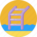 ladder, stairs, staircase, watersports
