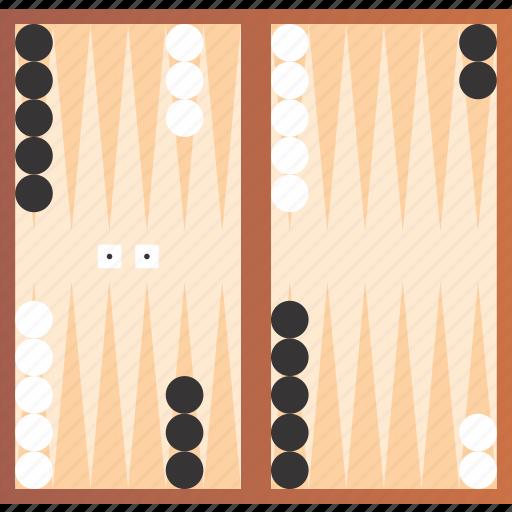 backgammon, board, game, tournament icon