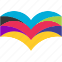 book, colorful, library, read icon