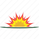 explode, explosion, fire, flash, splash icon