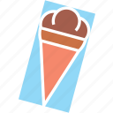 cream, ice, logo icon