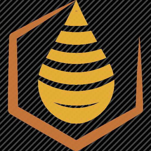 drop, honey, honeycomb, sweet icon