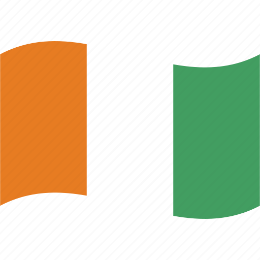 coast, country, d, flag, ivoire, ivory, waving icon