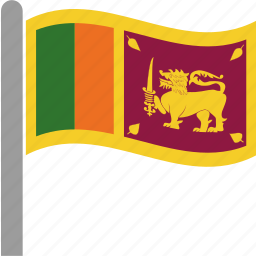 flag, lanka, lankan, sri, srilanka, waving icon
