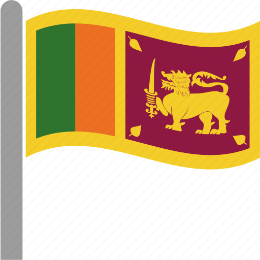 Flag Lanka Lankan Sri Srilanka Waving Icon