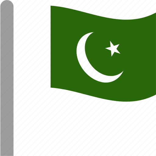 country, flag, pak, pakistan, pakistani, pole, waving icon