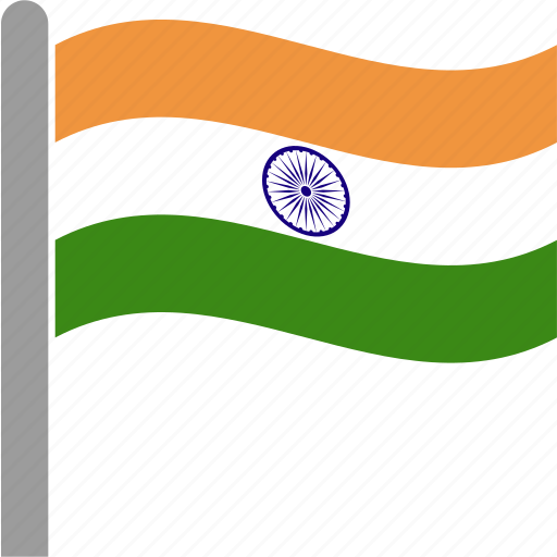 country, flag, ind, india, indian, pole, waving icon