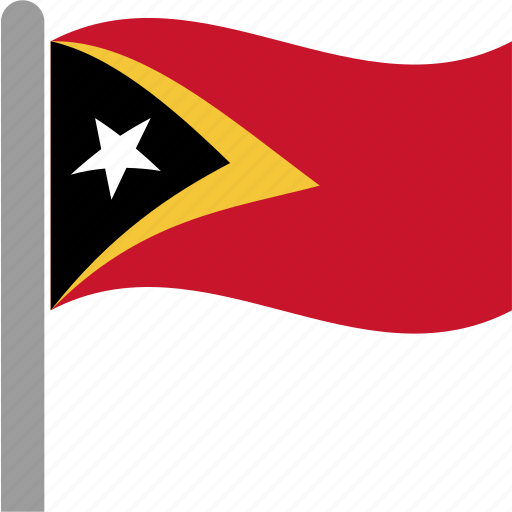 country, flag, leste, pole, timor, tls, waving icon
