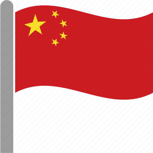 china, chiniesn, chn, country, flag, pole, waving icon