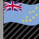country, flag, pole, tuv, tuvalu, tuvaluan, waving