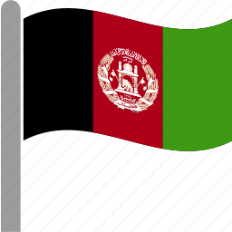 afg, afghan, afghani, afghanistan, country, flag, waving icon