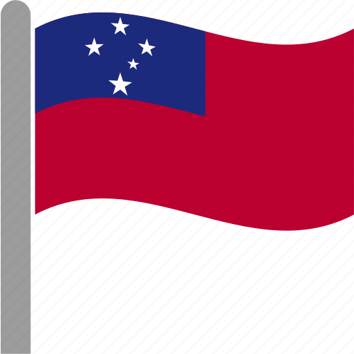 apia, country, flag, samoa, samoan, waving, wsm icon