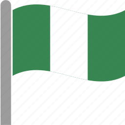 country, flag, naira, nigeria, nigerian, pole, waving icon