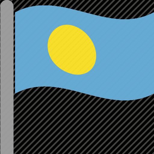 country, flag, ngerulmud, palau, plw, pole, waving icon