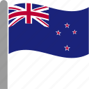 country, flag, new, newzealand, nzl, waving, zealand icon