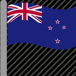 country, flag, new, newzealand, nzl, waving, zealand icon