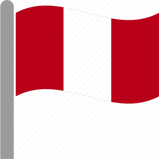 country, flag, per, peru, peruvian, pole, waving icon